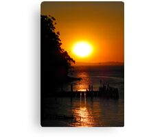 Sunset over Jetty Canvas Print