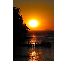 Sunset over Jetty Photographic Print