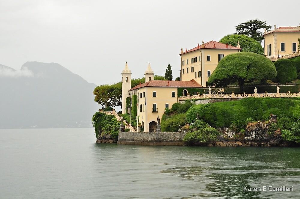 Villa on Lake Como by Karen E Camilleri