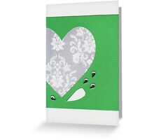 Christmas Love (Silver and Green) Greeting Card