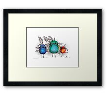 owl feathers Framed Print