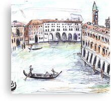Traghetto, Grand Canal, Venice Canvas Print