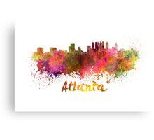 Atlanta skyline in watercolor Canvas Print