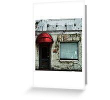 Fading Facade Greeting Card