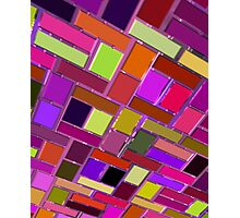 Pink and other color tiles Photographic Print