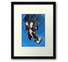 4th Doctor in the Time Vortex Framed Print