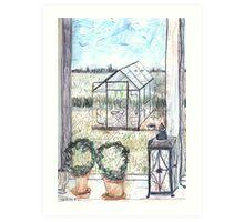 Naes Glasshouse Art Print