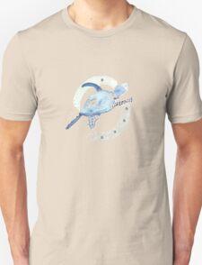 Blue Turtle in a Periscope T-Shirt