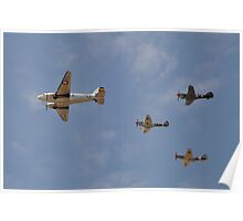 WW2 Formation Flypast, Point Cook Airshow, Australia 2014 Poster