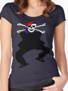 ★ټ Pirate Skull Style Hilarious Clothing & Stickersټ★ Women's Fitted Scoop T-Shirt