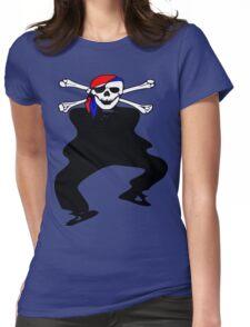 ★ټ Pirate Skull Style Hilarious Clothing & Stickersټ★ Womens Fitted T-Shirt