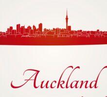 Auckland skyline in red Sticker