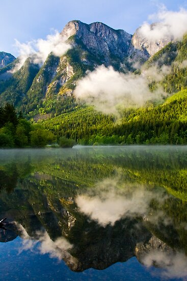 Wells Peak reflected in Silver Lake by Michael Russell