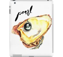 Water Color Black Pearl With Calligraphy – June Birthstone iPad Case/Skin