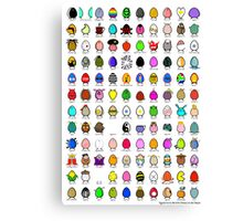 eggclection collection Canvas Print
