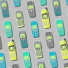 Vintage Cellphone Pattern by chobopop