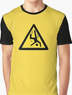 Danger Cliff, Chinese Sign Graphic T-Shirt