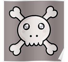 Kawaii Skull Poster