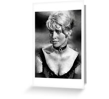 Julie Christie by John Springfield Greeting Card
