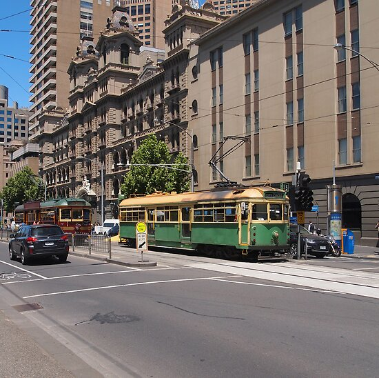 W Class Tram in Melbourne  VIC Australia by Margaret Morgan (Watkins)