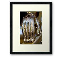 Golden Hand of Buddha Framed Print