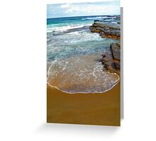 Incoming waves Greeting Card