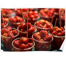 Juicy Strawberries Poster