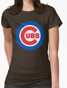 cubs logo Womens Fitted T-Shirt