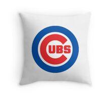 cubs logo Throw Pillow