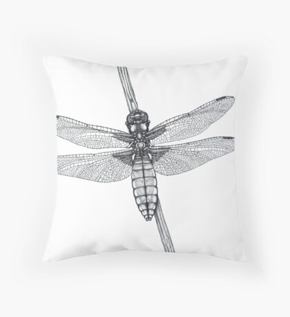 Broad Backed Chaser (cropped version) Throw Pillow