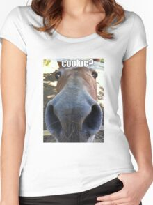 Matilda the Mule Wants Cookies! Women's Fitted Scoop T-Shirt