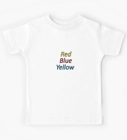 Red Blue Yellow Kids Tee