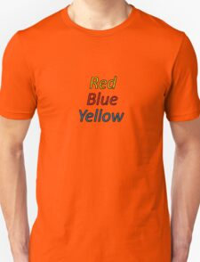 Red Blue Yellow Unisex T-Shirt