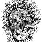 Psycho-delic Floral Skull by one-in-the-eye