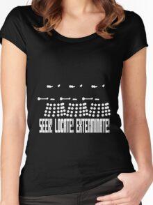 Dalek - SEEK! LOCATE! EXTERMINATE! (white) Women's Fitted Scoop T-Shirt