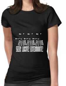 Dalek - SEEK! LOCATE! EXTERMINATE! (white) Womens Fitted T-Shirt