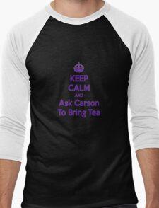 Keep Calm and Ask Carson To Bring Tea Small Men's Baseball ¾ T-Shirt