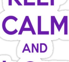 Keep Calm and Ask Carson To Bring Tea Small Sticker