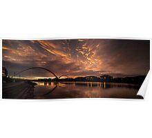 Infinity Bridge Sunrise Poster
