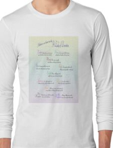 Advice to be a Lady of Downton  Long Sleeve T-Shirt