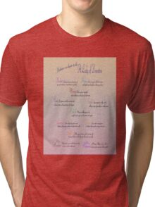 Advice to be a Lady of Downton  Tri-blend T-Shirt