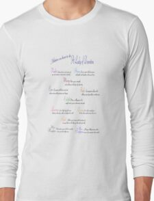 Advice to be a Lady of Downton Plain Long Sleeve T-Shirt