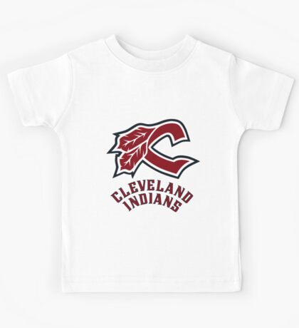 cleveland indians logo Kids Tee