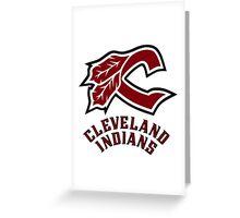 cleveland indians logo Greeting Card