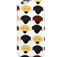 Labrador black chocolate yellow  pattern iPhone Case/Skin
