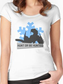 Monster Hunter - Hunt or be Hunted (Barioth) Women's Fitted Scoop T-Shirt