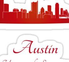 Austin skyline in red Sticker