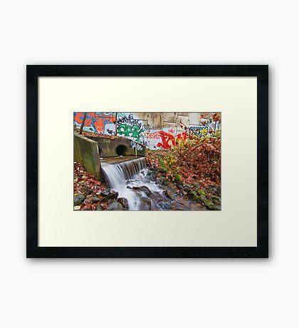 Tattooed Waterfall Framed Print