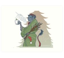Krampus - Cup Holder Art Print