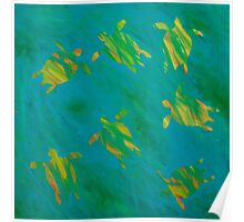 Abstract Sea Turtles Poster